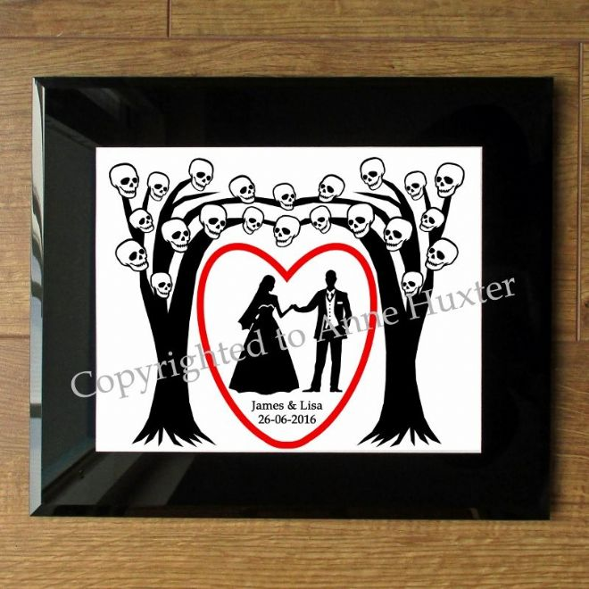 Gothic Wedding Tree Cutting File Template